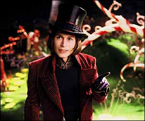 Jonny Depp as Willy Wonka