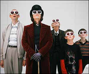Willy Wonka and other characters from Charlie and Chocolate Factory