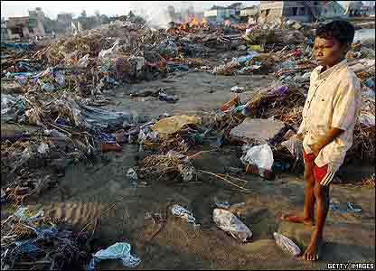 Indian child after tsunami