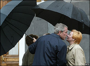 George W Bush and Lyudmila Putin