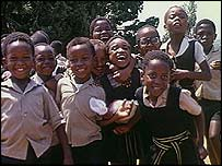 Schoolchildren in Soweto