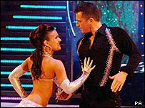 Darren Gough and dance partner Lilia Kopylova