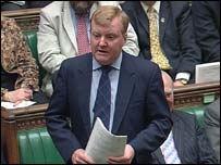 Leader of the Liberal Democrats Charles Kennedy debating in the House of Commons