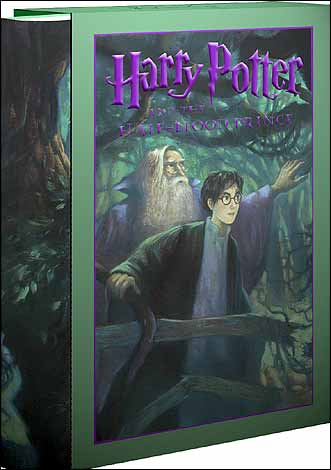 The cover of the US deluxe version of Harry Potter and the Half-Blood Prince