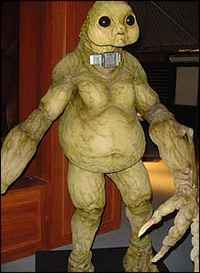 You can get up close and personal to a giant, seven foot Slitheen!