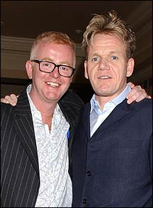 Chris Evans and Gordon Ramsay