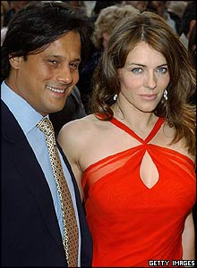 Elizabeth Hurley and Arun Nayer