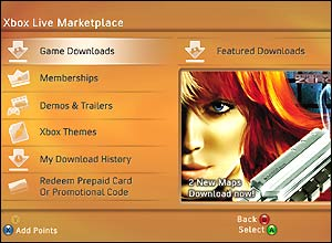 Xbox 360 marketplace screenshot