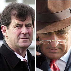 Irish racing tycoons JP MacManus and John Magnier