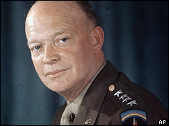 President Eisenhower in 1945
