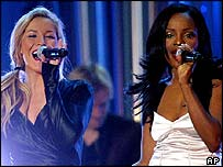 Remaining Sugababes Heidi Range and Keisha Buchanan