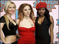 The Sugababes at the MTV Europe Awards