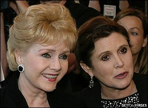 Debbie Reinolds y Carrie Fisher