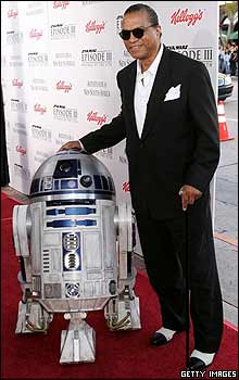 Billy Dee Williams con R2-D2