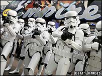 Stormtroopers in London's Leicester Square