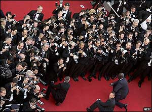Photographers at the Cannes Film Festival