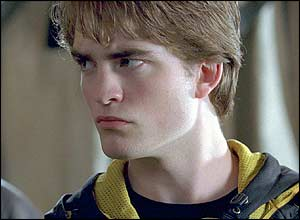 Robert Pattinson plays heart-throb Cedric Diggory in the fourth Potter movie