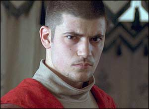 Swarthy Viktor Krum (played by Stanislav Ianevski) steals Hermione's heart
