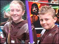 Star Wars fans Chantelle and Callum