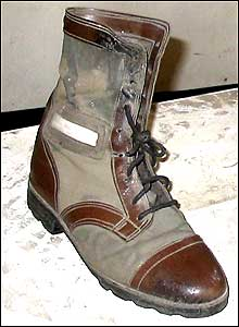Prince Johnson's military boot