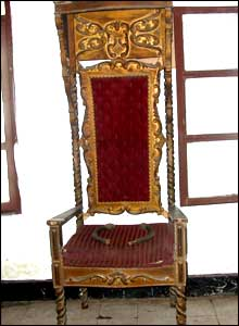 Royal chair at the Masonic temple