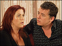 Shane Richie and Jessie Wallace in EastEnders
