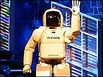 Asimo robot. Its name stands for Advanced Step in Innovative Mobility