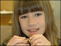 Emma chose a gold Roman finger ring to go on display at the Norwich Castle Museum