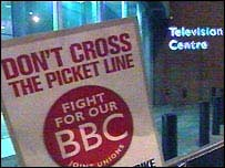 BBC staff are going on strike