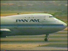 The Pan Am jet at Karachi Airport during the seige