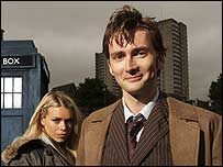 David Tennant with Billie Piper