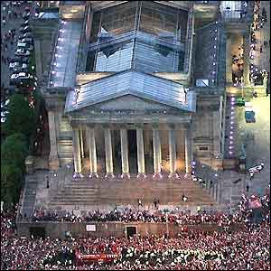 St George's Hall from the air
