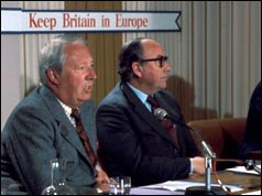 Former PM Edward Heath and Home Secretary Roy Jenkins
