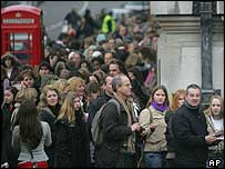 Hopefuls queue to see casting directors