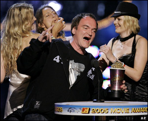 Kill Bill director Quentin Tarantino picks up the best award for best fight