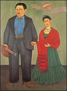 Frida Kahlo's 1931 painting Frida and Diego