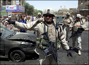 Aftermath of Baghdad car bombing