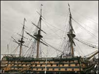 Nelson's flagship, HMS Victory