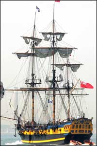The celebrations will feature a re-enactment of the Battle of Trafalgar using