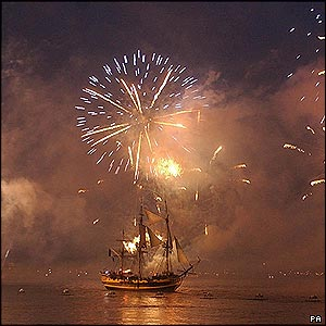 Fireworks in the Solent