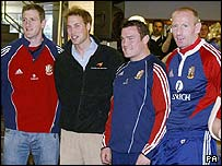 Prince William meets the British and Irish Lions