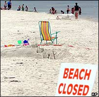 A Florida beach was closed after the second shark attack
