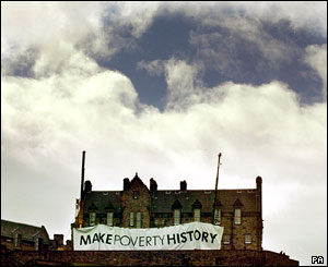 Edinburgh Castle with MPH banner