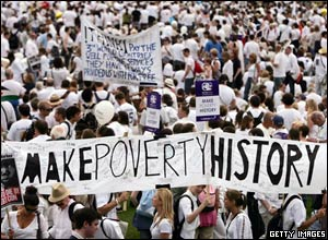 The Make Poverty History campaign mobilised thousands to the cause – and politicians listened!