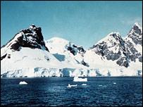 南極洲的冰山(BBC)