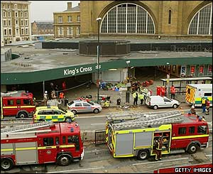 Emergency services at King's Cross