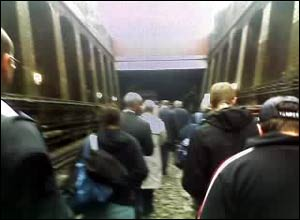 Passengers leaving Bayswater Station.