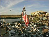 颶風后的廢墟