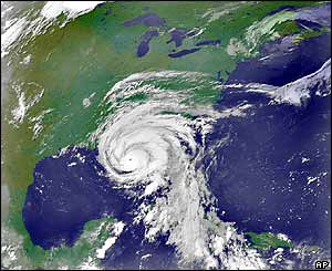 Nasa image released at 0555 am EDT (0955 GMT) showing Hurricane Dennis swirling in the eastern Gulf of Mexico