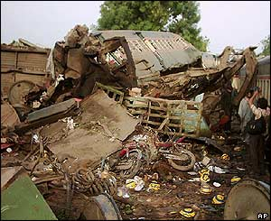 Train wreck in Pakistan